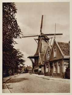 C1930 Koog aan de Zaan Windmill Holland The Netherlands Original Photogravure | eBay