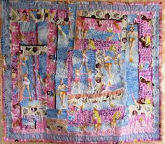 Princess Quilt Pink Lace Patchwork Feminist Wall by stitchingbevy, $175.00