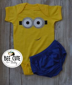 1f583745 Excited to share this item from my #etsy shop: Minion Outfit-yellow Bodysuit