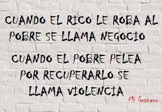 La richesse, la pauvreté et la violence
