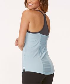 Another great find on #zulily! Corydalis Blue & Gray Cosmic Layered Tank by Marika Tek #zulilyfinds