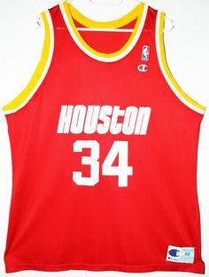 5da1bb0be Champion NBA Basketball Houston Rockets  34 Hakeem Olajuwon Trikot Jersey  Size 48 - Größe