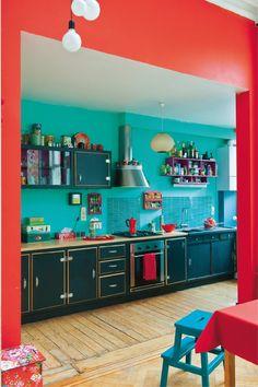 Red Orange Kitchen