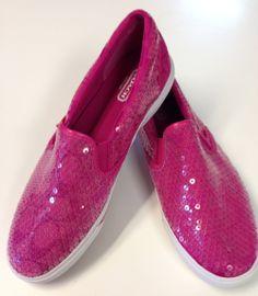 Coach pink sequin shoes #fun