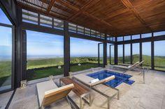 Open-air spa in Ecuador