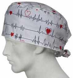 XL Surgical Caps EKG white  @ surgicalcaps.com