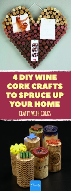 Crafty with Corks Crafts For Kids, Arts And Crafts, Diy Crafts, Wine Cork Crafts, Home Hacks, 5 Minute Crafts, Home Deco, Diy Projects, Crafty