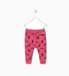 Bear print leggings from Zara