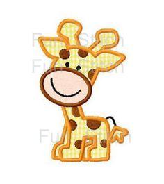 Giraffe applique machine embroidery design by FunStitch on Etsy, $2.59
