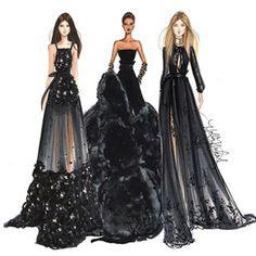 Elie Saab/Givenchy putting my closet of LBDs to shame -- Holly Nichols Illustration