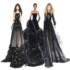 Elie Saab/Givenchy putting my closet of LBDs to shame -- Holly Nichols Illustration