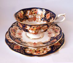 antique 1890's foley china tea cup trio, early shelley tea cup and