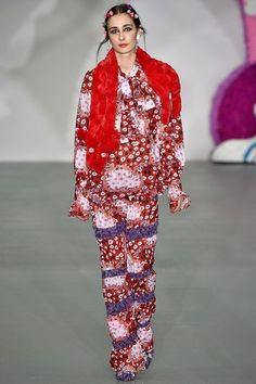 Ryan Lo AW16. Red & Purple Floral www.thebridgeco.uk
