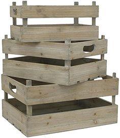Wood Crates Set Of 3, SET/3, NATURAL... (bestseller)