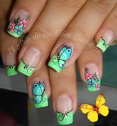 Fingernail Designs, Nail Polish Designs, Diy Nail Designs, Nail Designs Spring, Pretty Nail Art, Beautiful Nail Art, Fabulous Nails, Gorgeous Nails, Fancy Nails