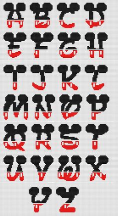 Most up-to-date Images Cross Stitch patterns Strategies Mickey fonts Cross Stitch Cards, Cross Stitch Alphabet, Cross Stitch Baby, Cross Stitching, Pixel C Cross Stitch Letters, Cross Stitch Cards, Cross Stitch Baby, Cross Stitch Animals, Cross Stitching, Cross Stitch Embroidery, Cross Stitch Font, Hand Embroidery, Embroidery Patterns