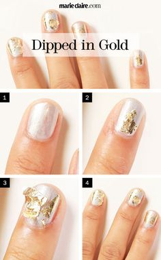 Nail Art How-To: Dipped in Gold