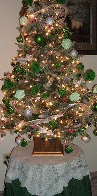 "St. Patrick's Day Tree. This blogger has a tree up all year and changes decor according to the holidays. ""[The holiday trees] also give one an endless feeling of childhood happiness."" <-- we agree!"