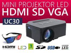 RZUTNIK PROJEKTOR LED 3D HDMI USB XBOX UC30