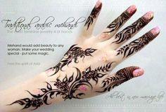 Khaleeji/Gulf henna design by Amelia D.