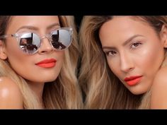 ▶ Pool Party Glam - Quick Easy Makeup Look - Desi Perkins - YouTube