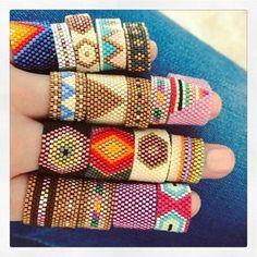 "472 Likes, 14 Comments - Carmen & Julia Joyas Tejidas (@carmenyjulia) on Instagram: ""ring party #theartofmaking #sacred #bauhaus #crafts #statementearrings #weave #handmade…"""