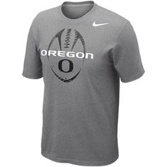buy popular 943e9 cf0b3 No. 5 - Nike Oregon Ducks Football Team Issue T-Shirt - Ash Arkansas