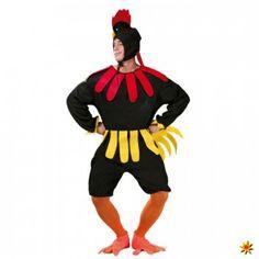 Kostüm Hahn, Gockl schwarz   Fasching Kostüme kaufen