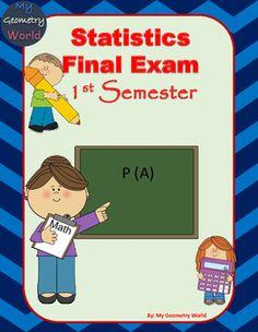 Statistics Final Exam: 1st Semester Final Exam