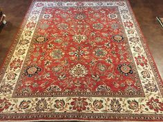 SULTANABAD  this rug embodies the spirit and heritage of traditional Oriental weaving. The beautifully flowing design rich with palmettes is emblematic of Sultanabad rug. Sultanabad rugs are perhaps one of the most successful and popular decorative rugs of all time.