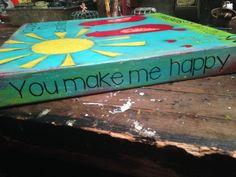 You are my Sunshine. Mixed Media Acrylic Painting.