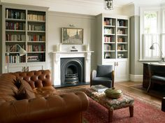 Looking for traditional living room decorating ideas? Take a look at this living room from 25 Beautiful Homes for inspiration. For more living room ideas visit our living room galleries Living Room Grey, Home Living Room, Living Room Designs, 1930s House Interior Living Rooms, Room Interior, Victorian Terrace Interior, Living Room Decor Uk, Dado Rail Living Room, Living Area