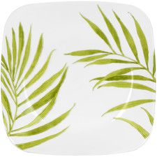 """Square 9"""" Bamboo Leaf Plate (Set of 6)"""