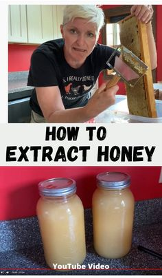 Ever wonder how to spin out honey in an extractor?  What exactly do you need to strain this liquid gold from the honeycomb?  It's easier than you think!  Let me show you how, step-by-step, to extract honey! #extracthoney #spinhoney Honey Recipes, Real Food Recipes, Subsistence Agriculture, Beekeeping For Beginners, Modern Homesteading, Liquid Gold, How To Make Cheese, Preserving Food, Bee Keeping