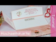 Besonderes Kartenformat Hochzeit - Wedding Folding Card - Tutorial - Stampin' Up! - YouTube - YouTube Snail Mail Pen Pals, Punch Board, Happy Mail, Stampin Up, Diy And Crafts, Place Card Holders, Gifts, Videos, Youtube