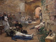 《la mort du Marechal Lannes》 Napoleon at the dying speaker Lannes after the battle of Essling. To the left of the Chief Surgeon Larrey of the Army was Commander of the Imperial Guard cavalry Marshal Besseries.