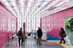 Naples University metro station designed by Karim Rashid