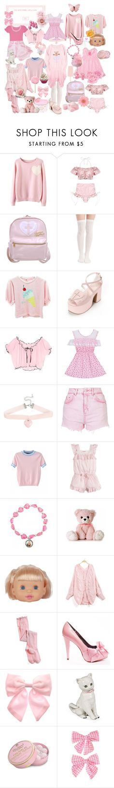 """""""bloody murder"""" by sucrosia ❤ liked on Polyvore featuring WithChic, Wet Seal, Cotton Candy, Hot Topic, Topshop, Pink Bears, Aerie, Paris Hilton, Vie Active and Pumpkin Patch"""