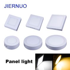Panel LED Light 10W/15W/25W/30W Round/Square LED Panel Light Surface Mounted Dimmable Down light LED Ceiling Light AC85-265V AJ