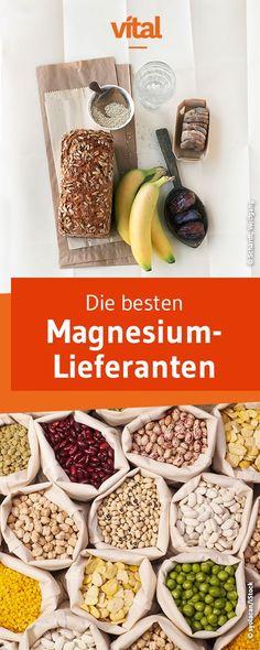 Magnesium ist essentiell für Muskeln und Nerven - umso wichtiger ist es, dass ihr regelmäßig magnesiumhaltige Lebensmittel in eure Ernährung integriert. Wir zeigen euch die besten Magnesiumquellen.