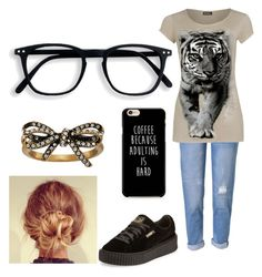 """""""Lazy day"""" by shadow-time-wolf ❤ liked on Polyvore featuring WithChic, WearAll, Puma and Marc Jacobs"""