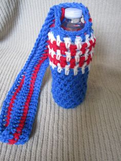 Water Bottle Sling 4th of July  MadCap Charity by HandmadeHealth, $13.00