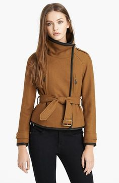 Burberry Brit 'Waltbridge' Belted Asymmetrical Jacket available at #Nordstrom #7LooksFallChallenge