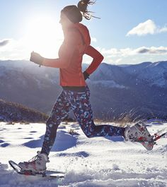 Don't let winter stop you - snowshoe running. Running inspiration! #runeverydamnday