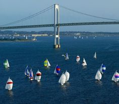 It's really pretty when all the sailboats are out in the summer. Newport, Rhode Island