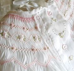 hand-smocked baby's day dress