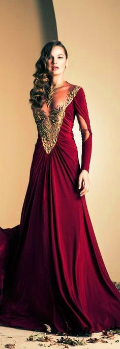 red gown ;prom dress