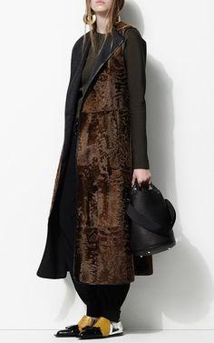 Vitello Rovesciato Black Bucket Bag by MARNI for Preorder on Moda Operandi
