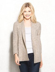 dbSunday Cable Knit Ribbed Cardigan