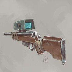 A hunting rifle ? by on DeviantArt Sci Fi Weapons, Weapon Concept Art, Fantasy Weapons, Weapons Guns, Fallout Art, Fallout New Vegas, Future Weapons, Gun Art, Futuristic Art